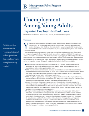 Unemployment Among Young Adults: Exploring Employer-Led Solutions