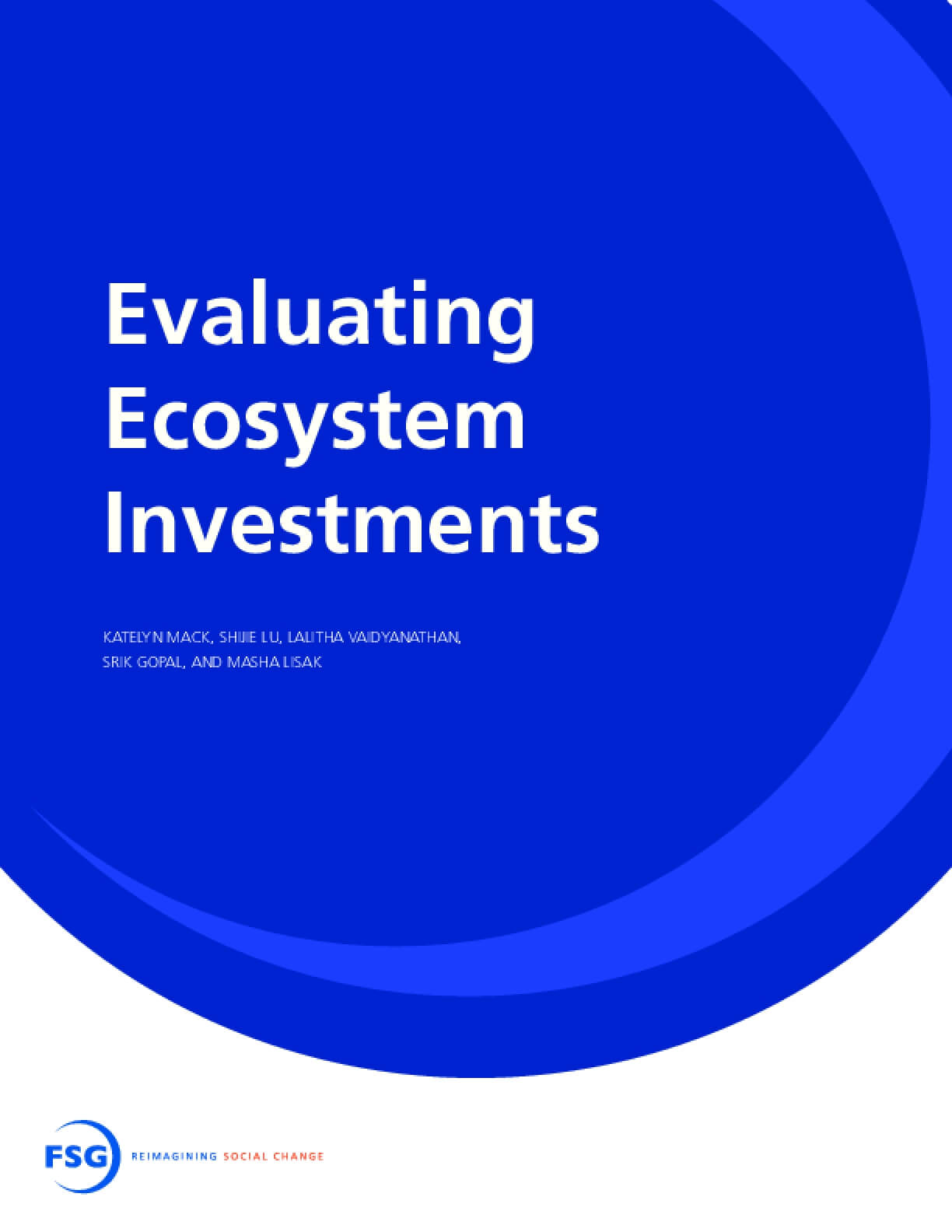 Evaluating Ecosystem Investments