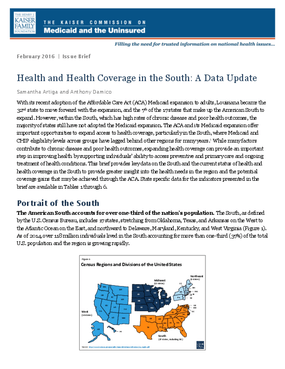 Health and Health Coverage in the South: A Data Update