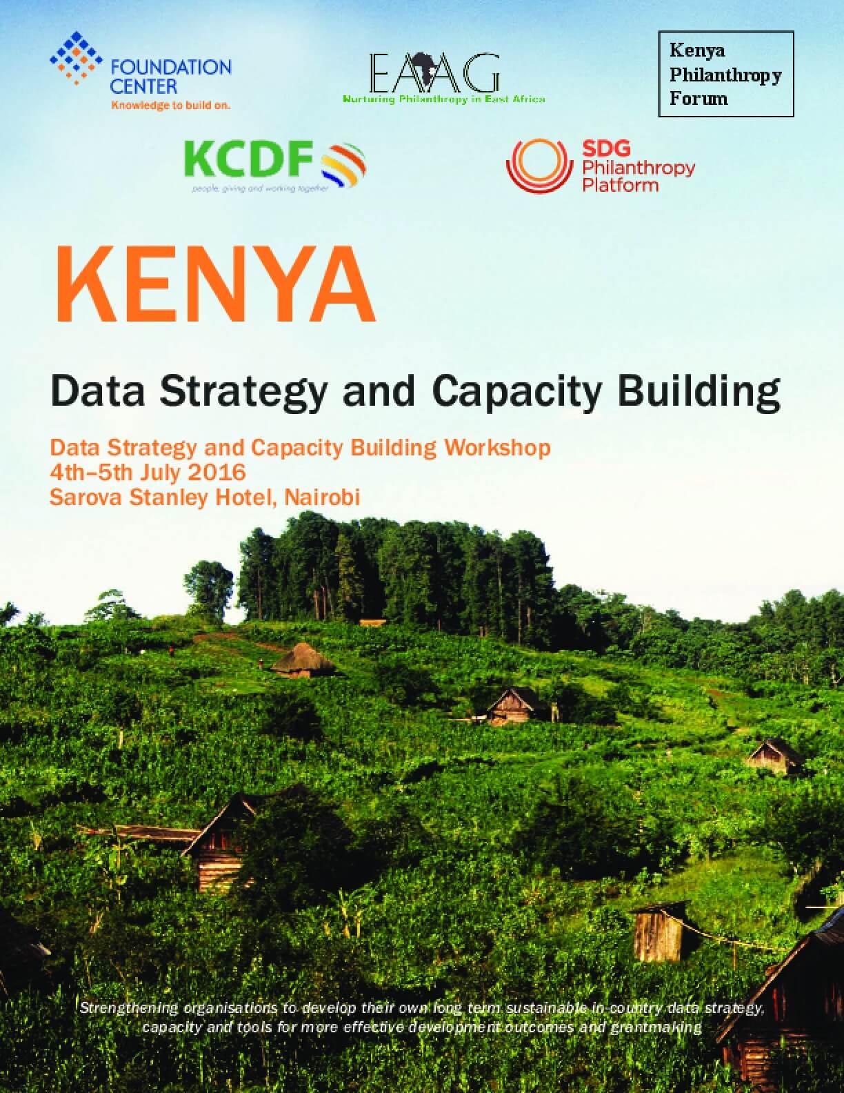 Kenya Data Strategy and Capacity Building: Data Strategy and Capacity Building Workshop
