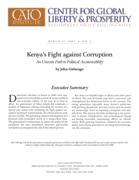 Kenya's Fight Against Corruption: An Uneven Path to Political Accountability