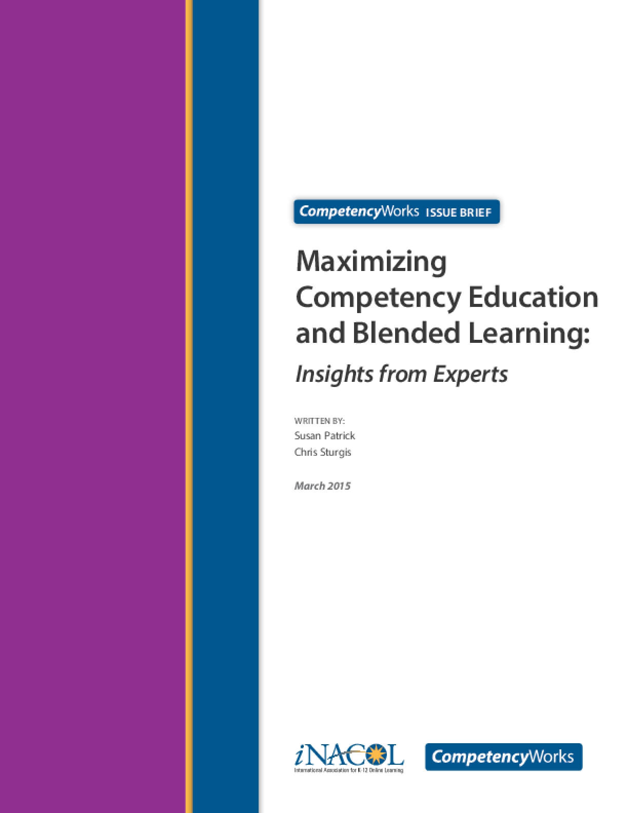 Maximizing Competency Education and Blended Learning: Insights from Experts