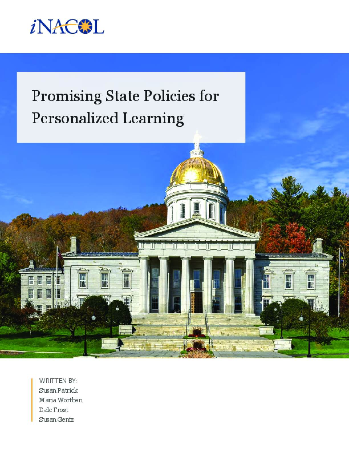 Promising State Policies for Personalized Learning