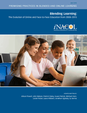 Blending Learning: The Evolution of Online and Face-to-Face Education from 2008–2015