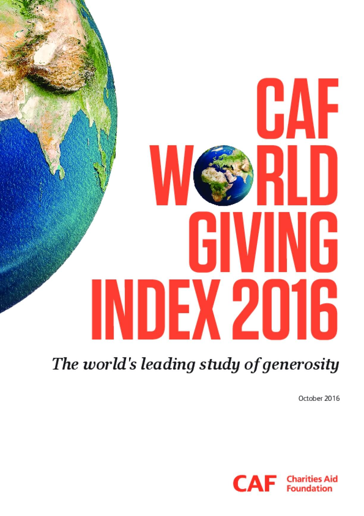CAF World Giving Index 2016