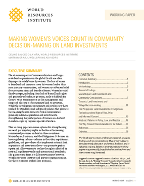Making Women's Voices Count in Community Decision-Making on Land Investments