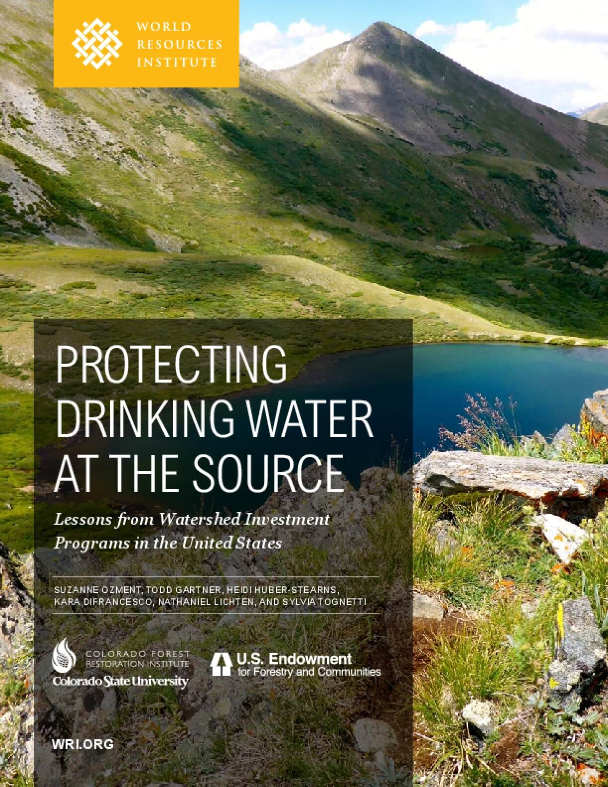 Protecting Drinking Water at the Source: Lessons from United States Watershed Investment Programs