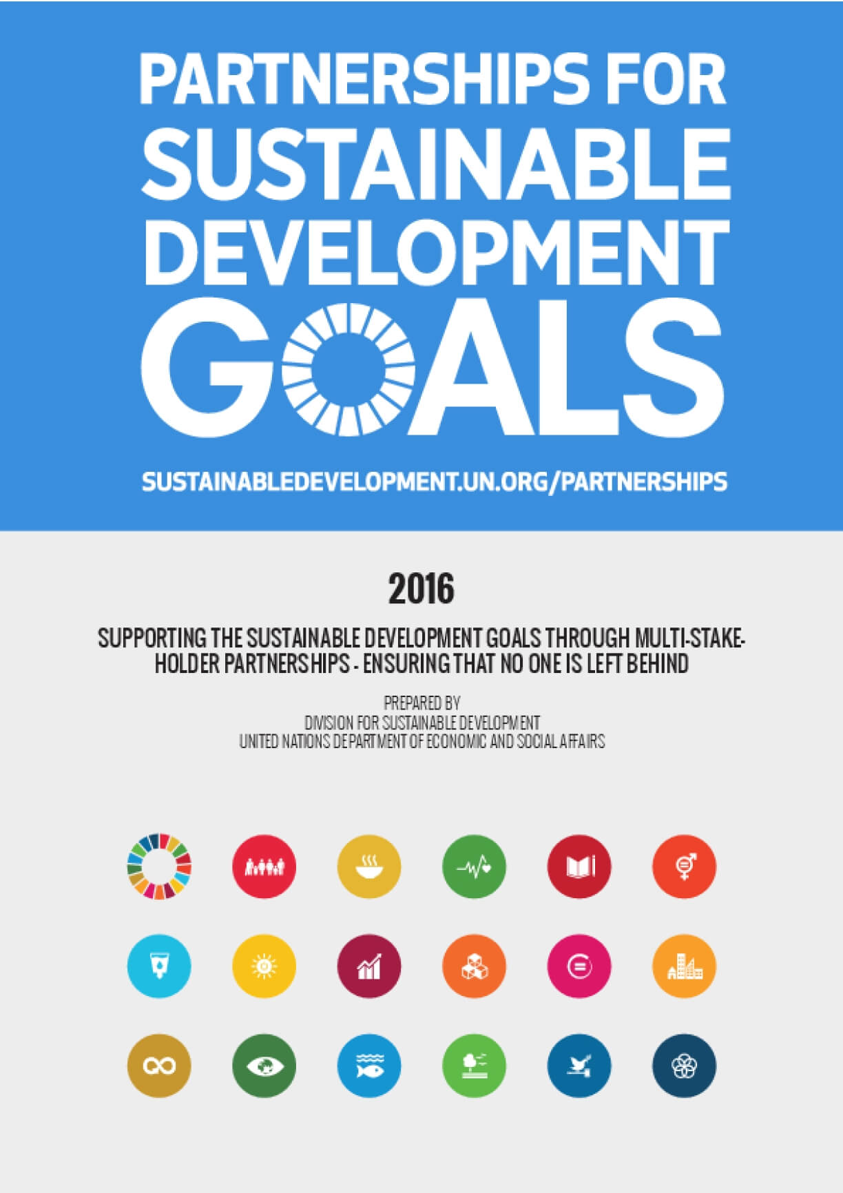Partnerships for Sustainable Development Goals 2016
