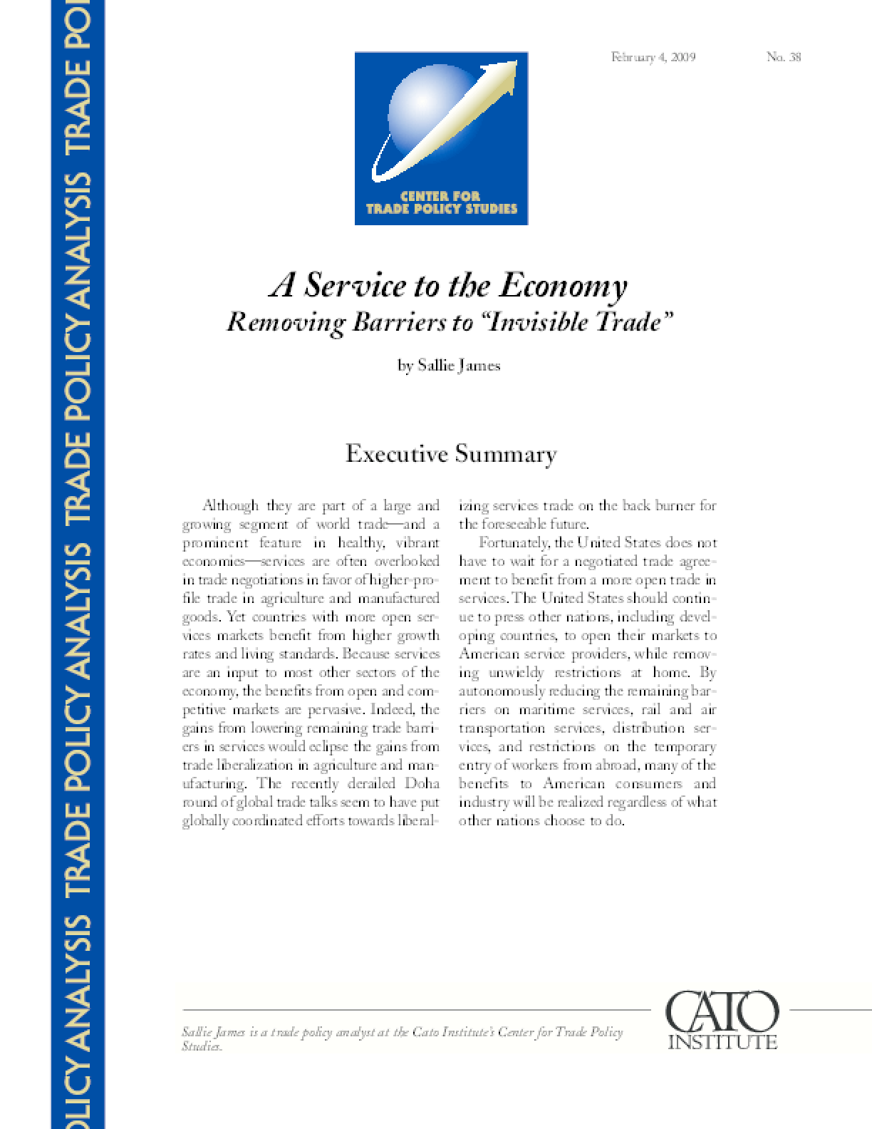 Service to the Economy: Removing Barriers to
