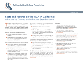 Facts and Figures on the ACA in California: What We've Gained and What We Stand to Lose