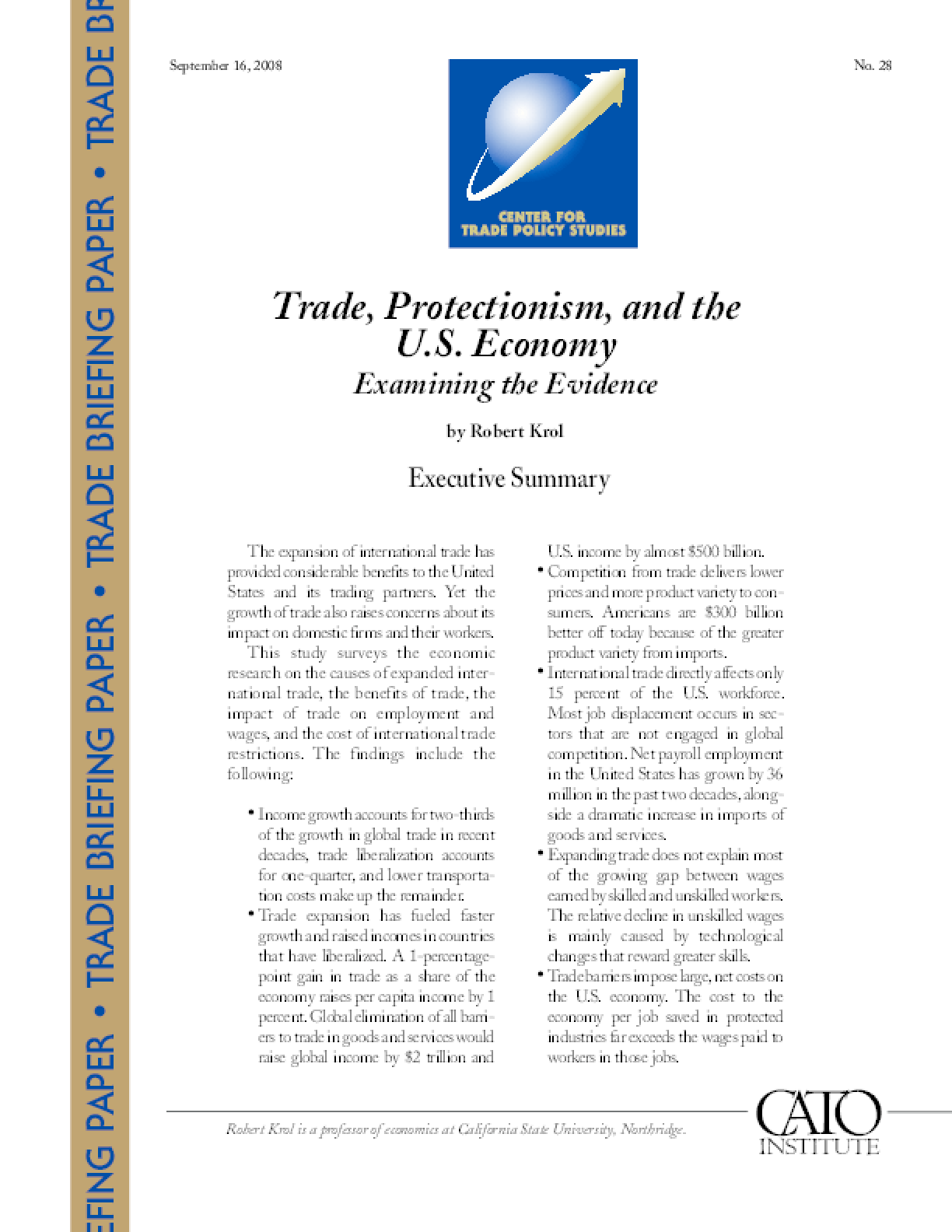Trade, Protectionism, and the U.S. Economy: Examining the Evidence