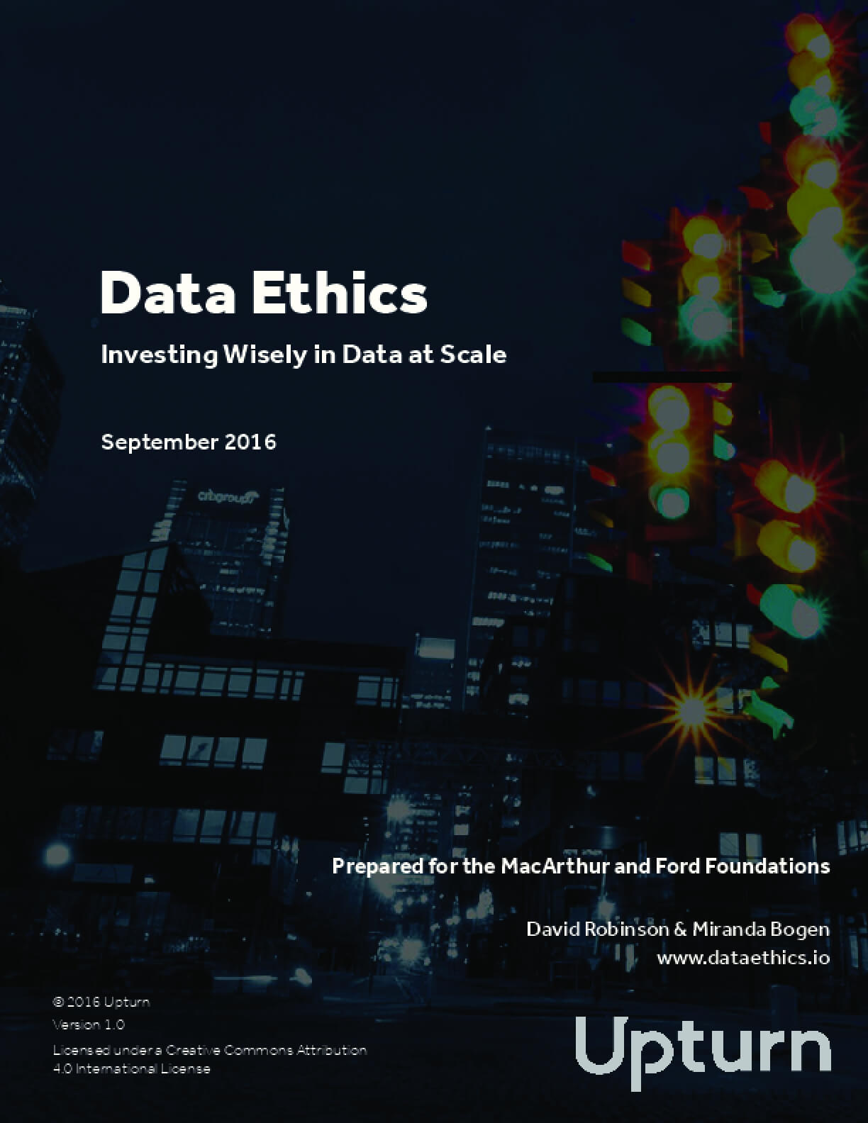 Data Ethics: Investing Wisely in Data at Scale