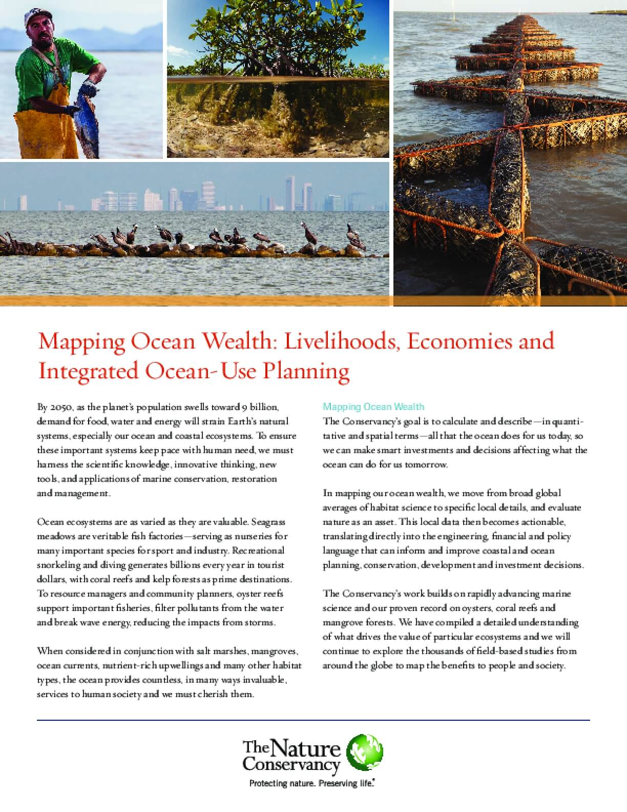 Mapping Ocean Wealth: Livelihoods, Economies and Integrated Ocean-Use Planning