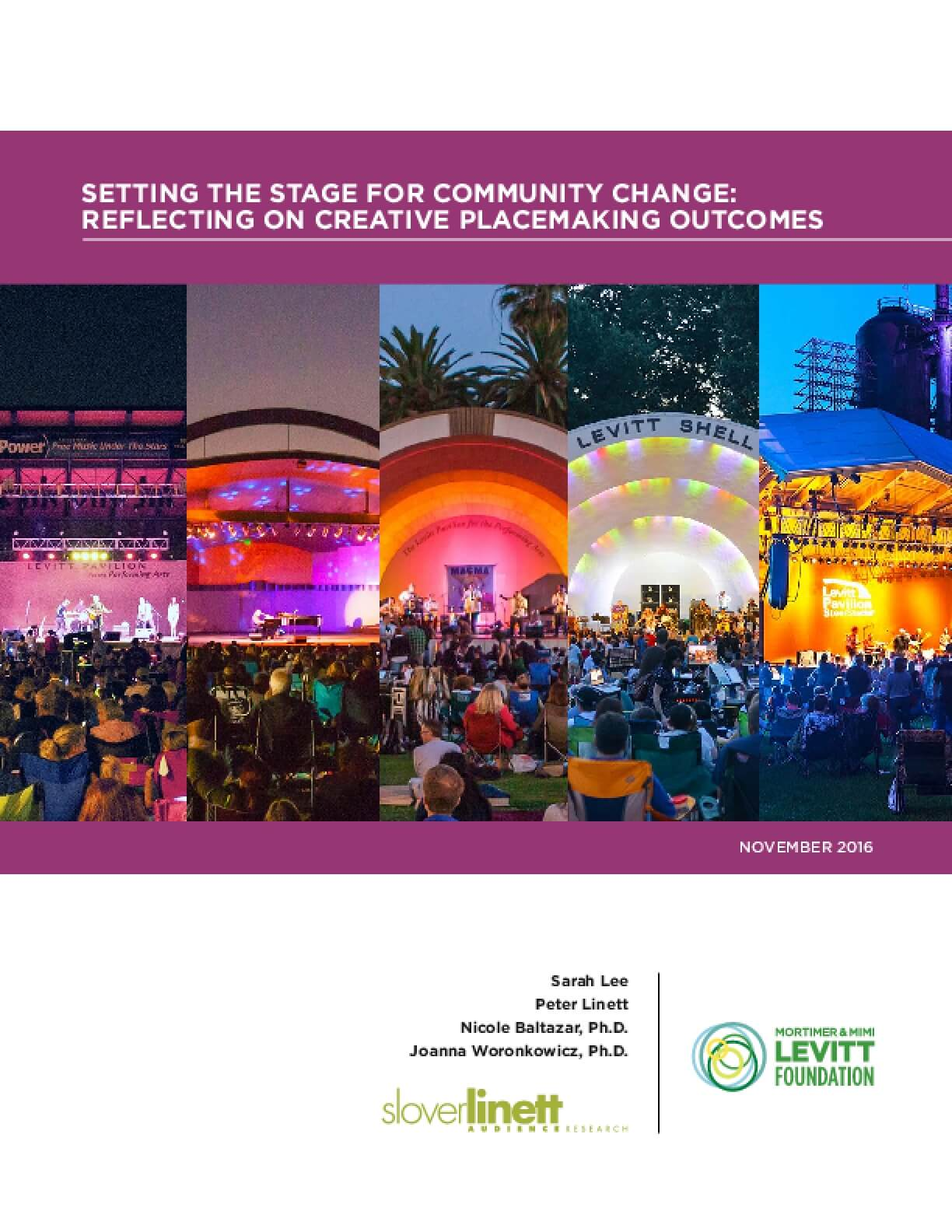 Setting the Stage for Community Change: Reflecting on Creative Placemaking Outcomes