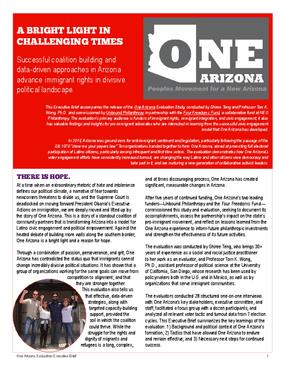 One Arizona: Evaluation Executive Brief