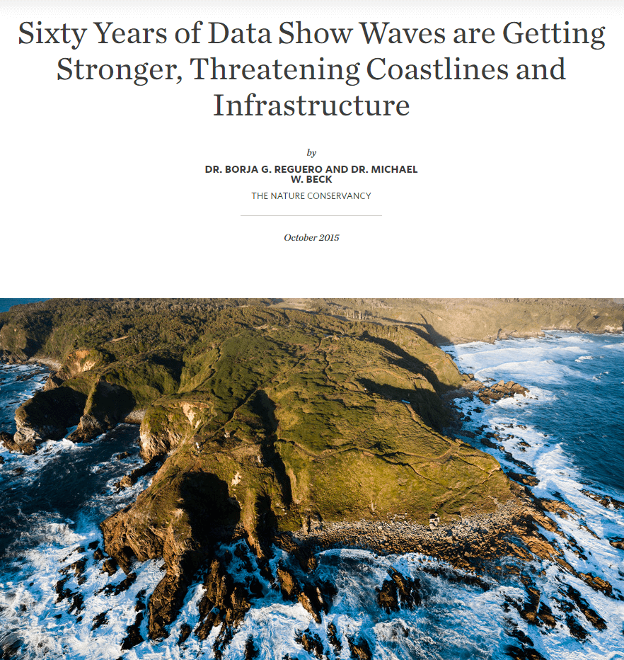 Sixty Years of Data Show Waves are Getting Stronger, Threatening Coastlines and Infrastructure