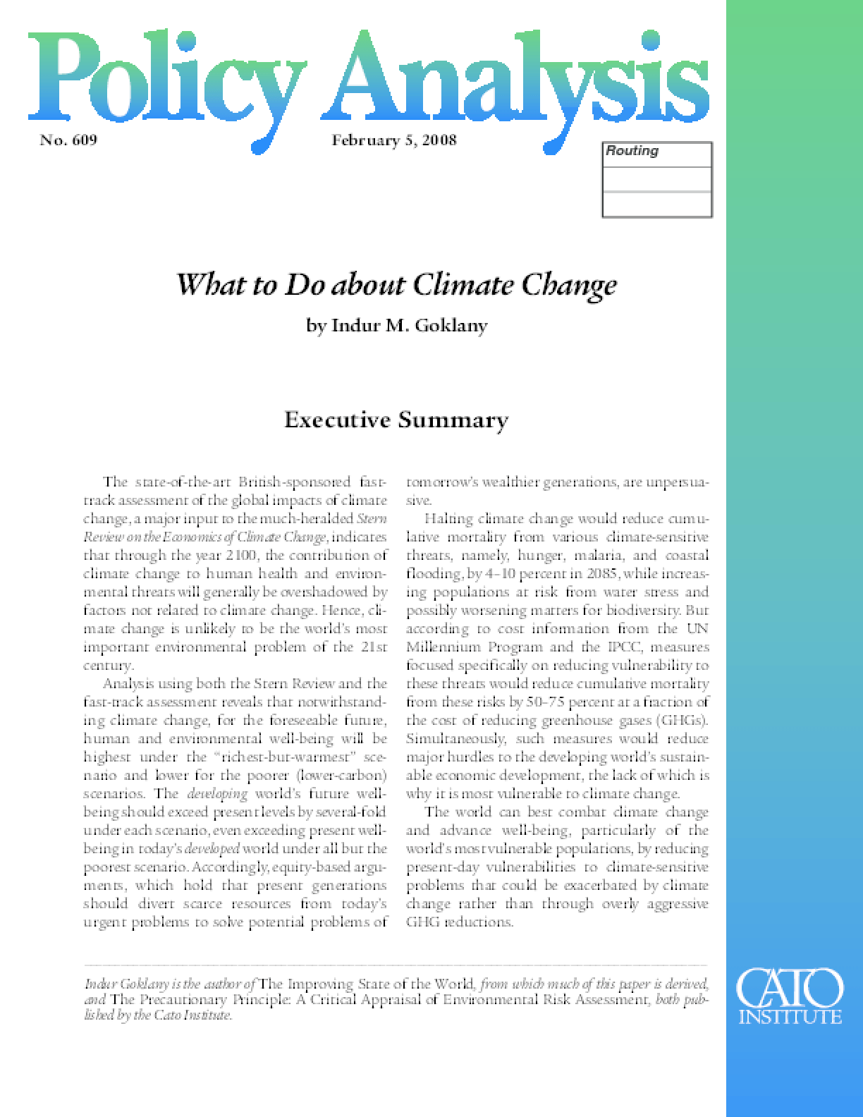 What to Do about Climate Change