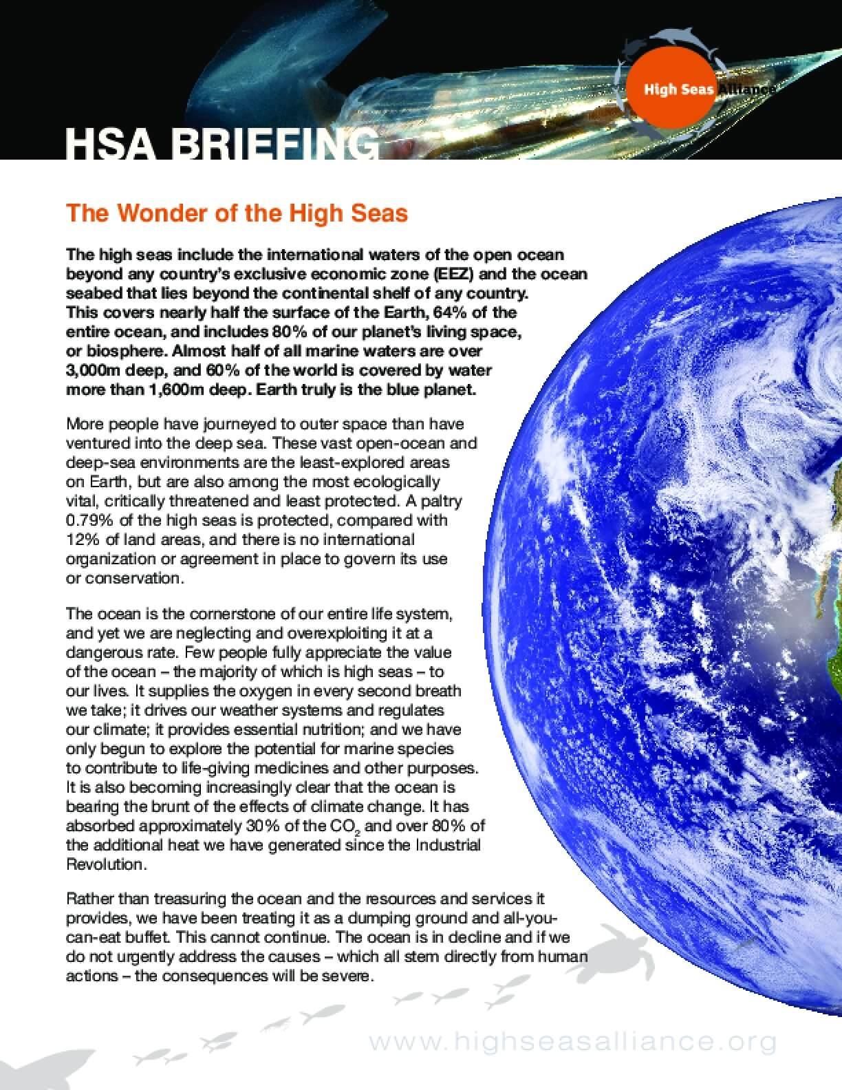 HSA Briefing 4: Wonders of the High Seas