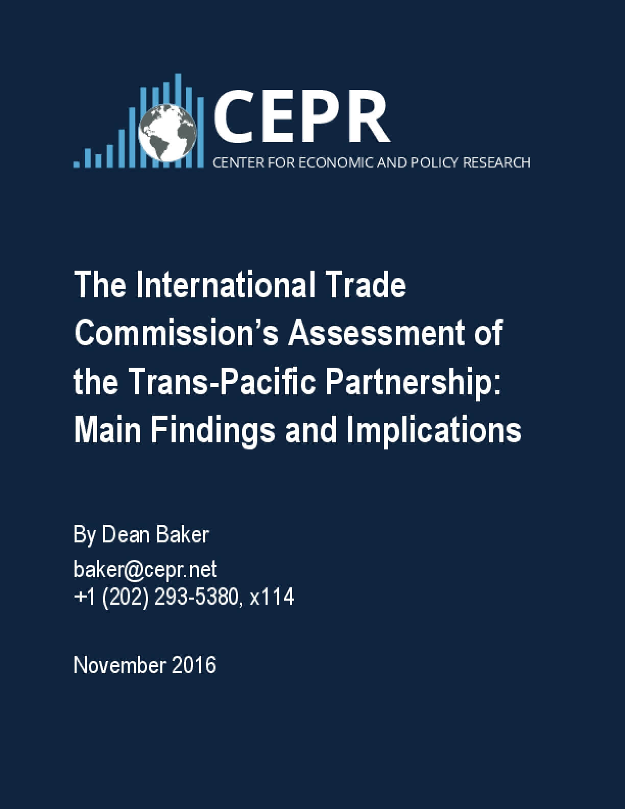 The International Trade Commission's Assessment of the Trans-Pacific Partnership: Main Findings and Implications