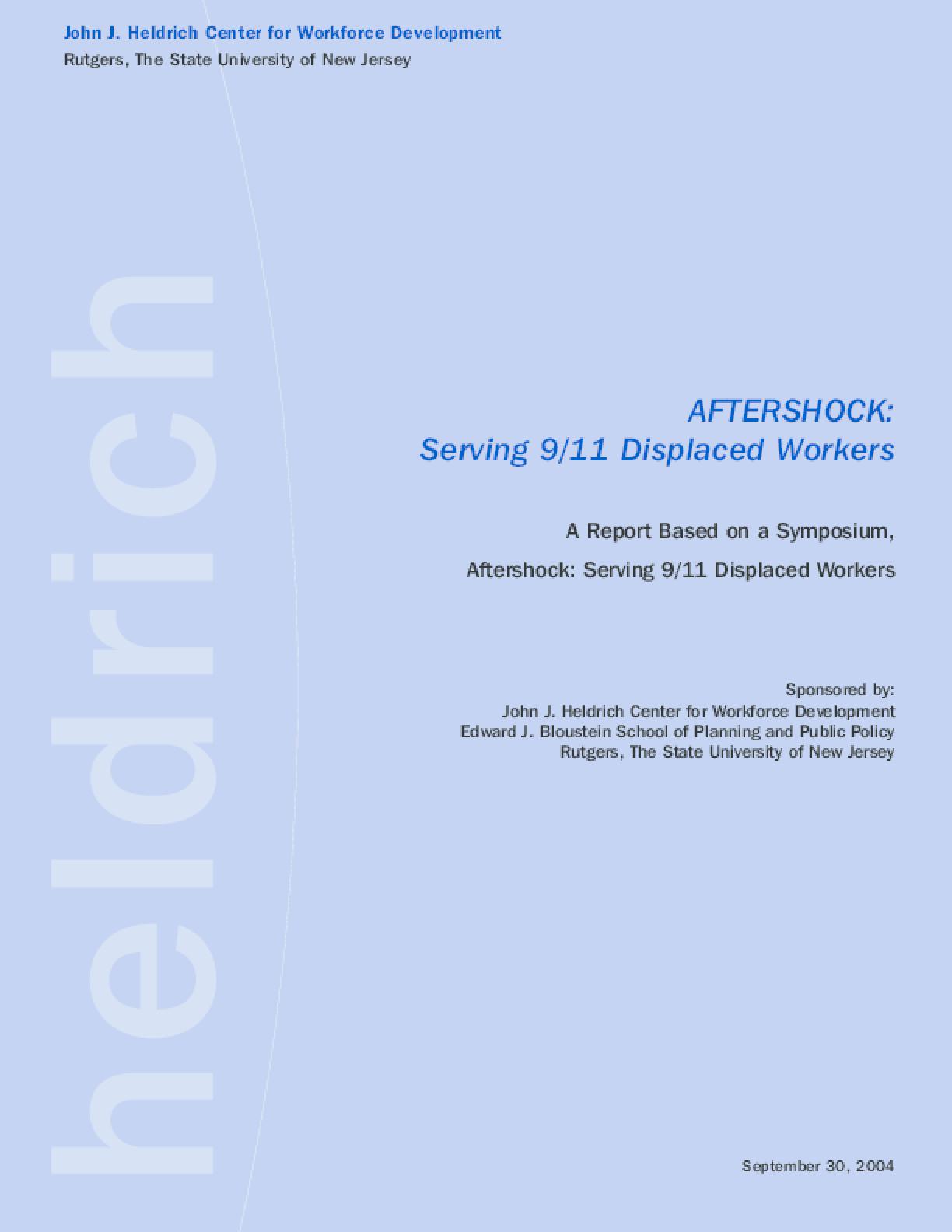 Aftershock: Serving 9/11 Displaced Workers