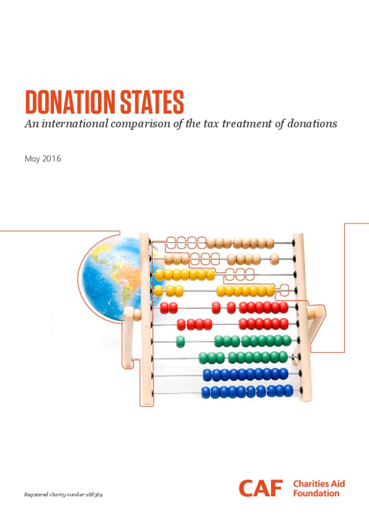 Donation States: An International Comparison of the Tax Treatment of Donations