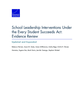 School Leadership Interventions Under the Every Student Succeeds Act: Evidence Review - Updated and Expanded