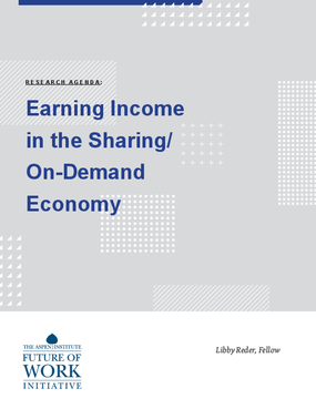 Earning Income in the Sharing/On-Demand Economy