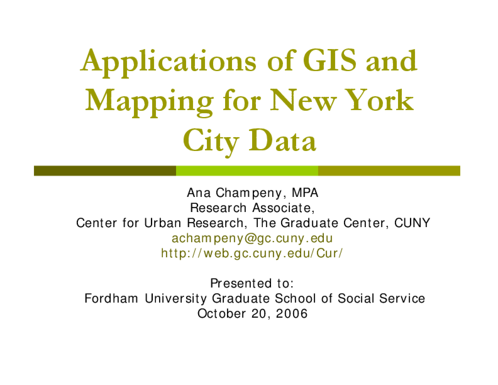 Applications of GIS and Mapping for New York City Data