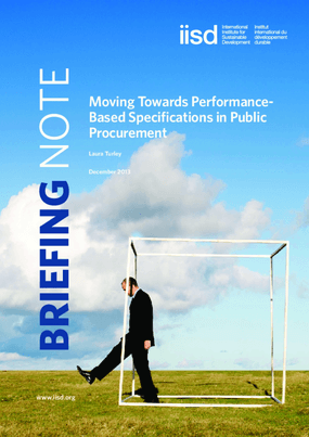 Moving Towards Performance-Based Specifications in Public Procurement