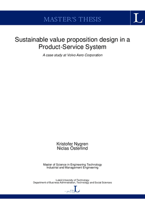 Sustainable Value Proposition Design in a Product-Service System