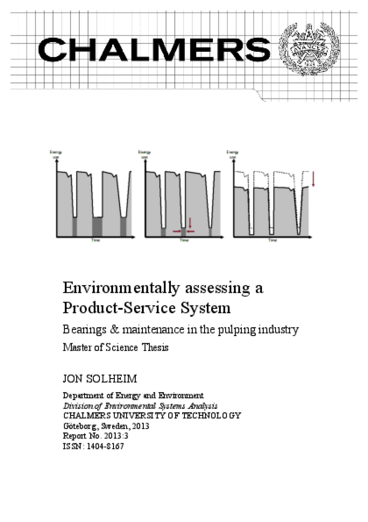 Environmentally Assessing a Product-Service System: Bearings & Maintenance in the Pulping Industry