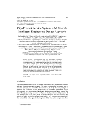City-Product Service System: A Multi-Scale Intelligent Engineering Design Approach