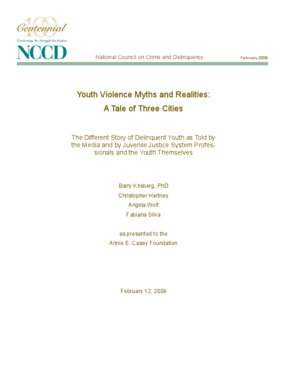 Youth Violence Myths and Realities: A Tale of Three Cities
