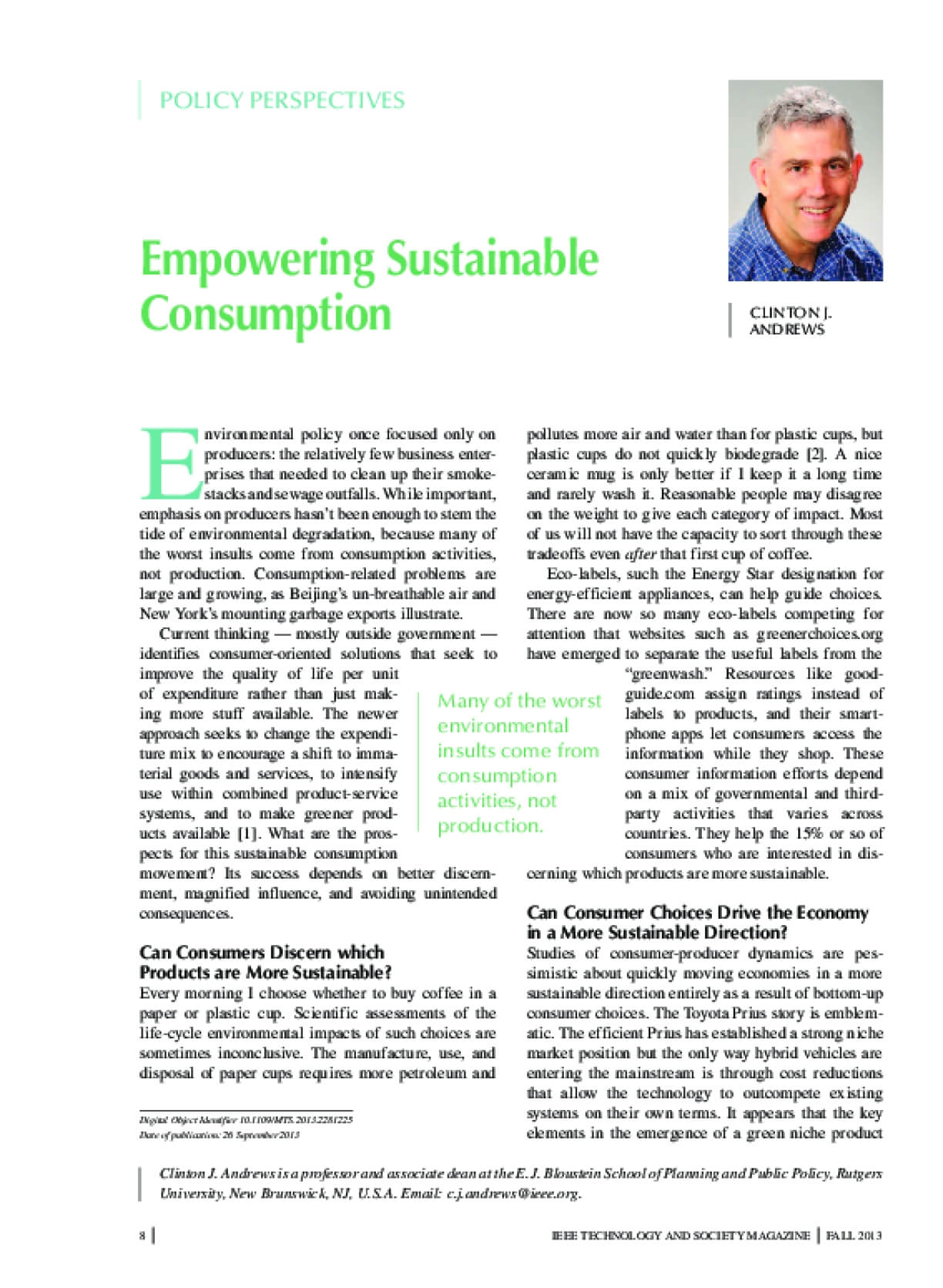 Empowering Sustainable Consumption