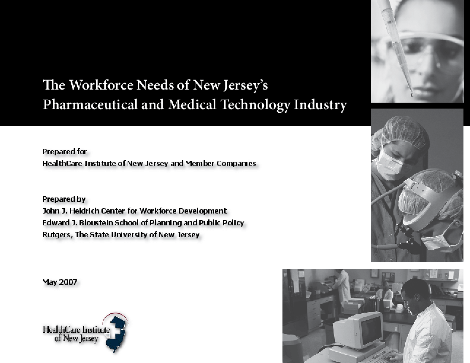 The Workforce Needs of New Jersey's Pharmaceutical and Medical Technology Industry