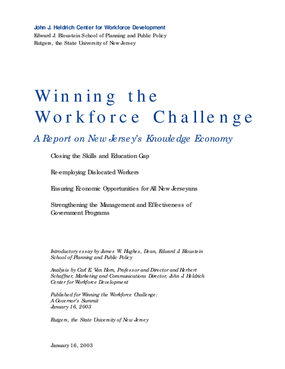 Winning the Workforce Challenge: A Report on New Jersey's Knowledge Economy