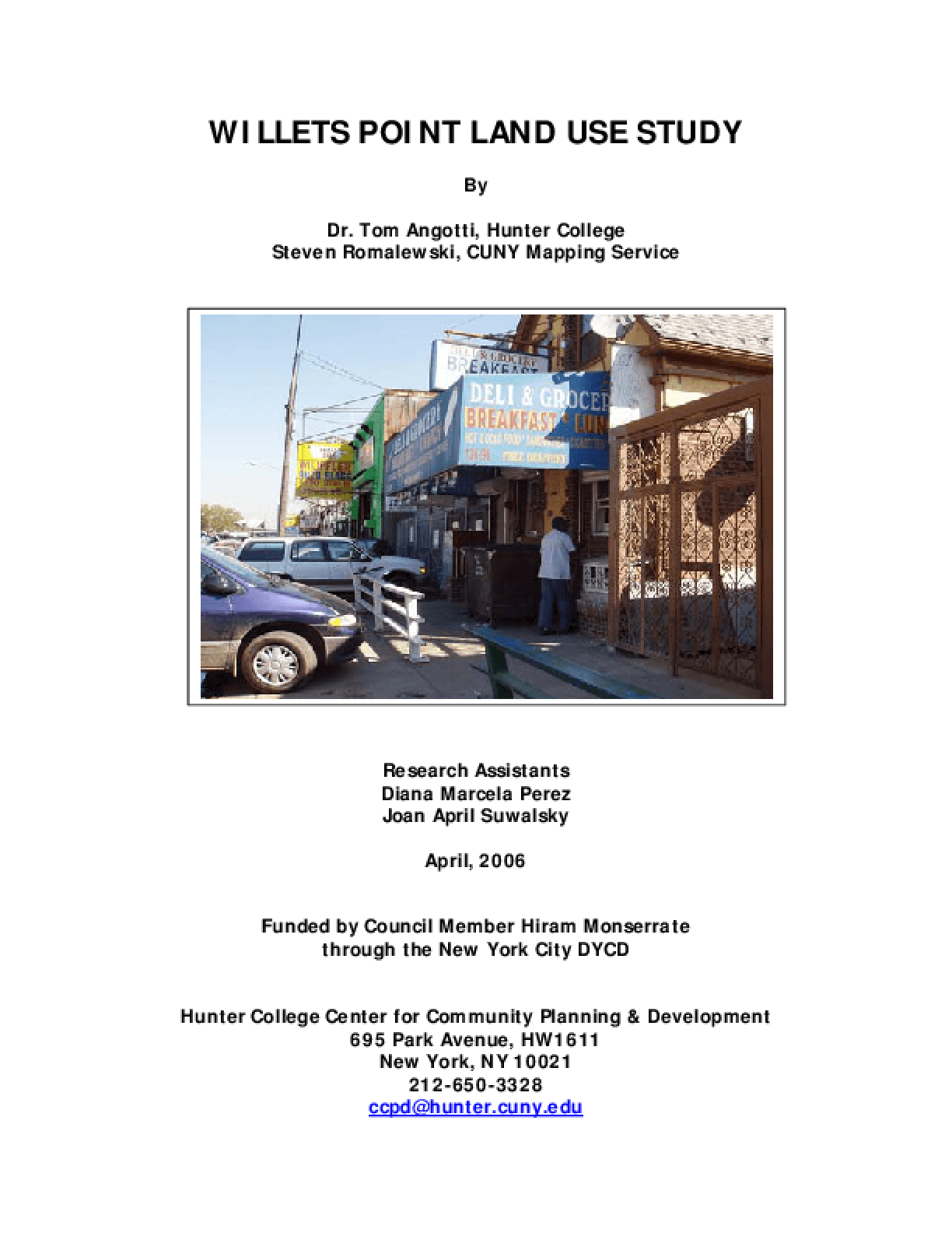 Willets Point Land Use Study