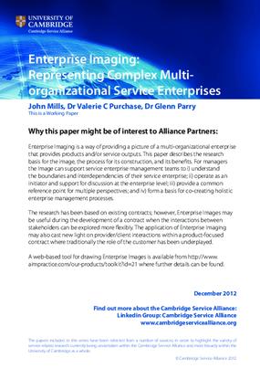 Enterprise Imaging: Representing Complex Multi-Organizational Service Enterprises