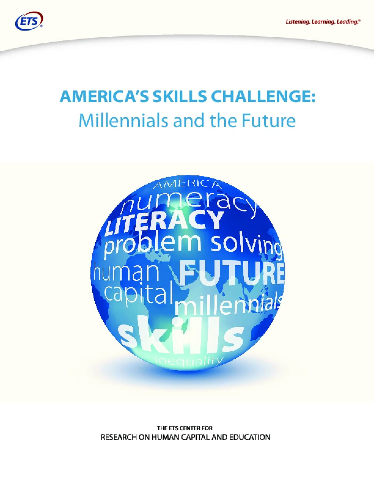 America's Skills Challenge: Millennials and the Future