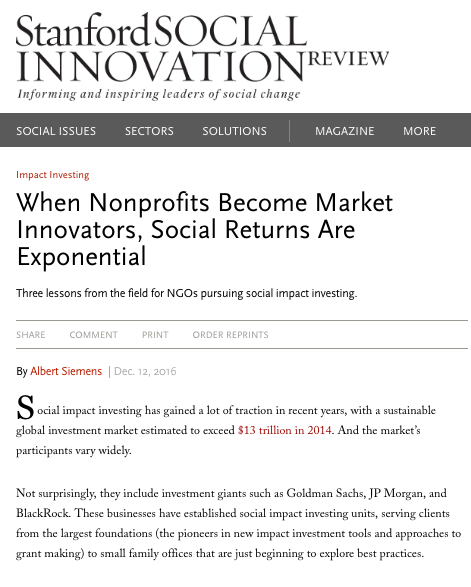 When Nonprofits Become Market Innovators, Social Returns Are Exponential