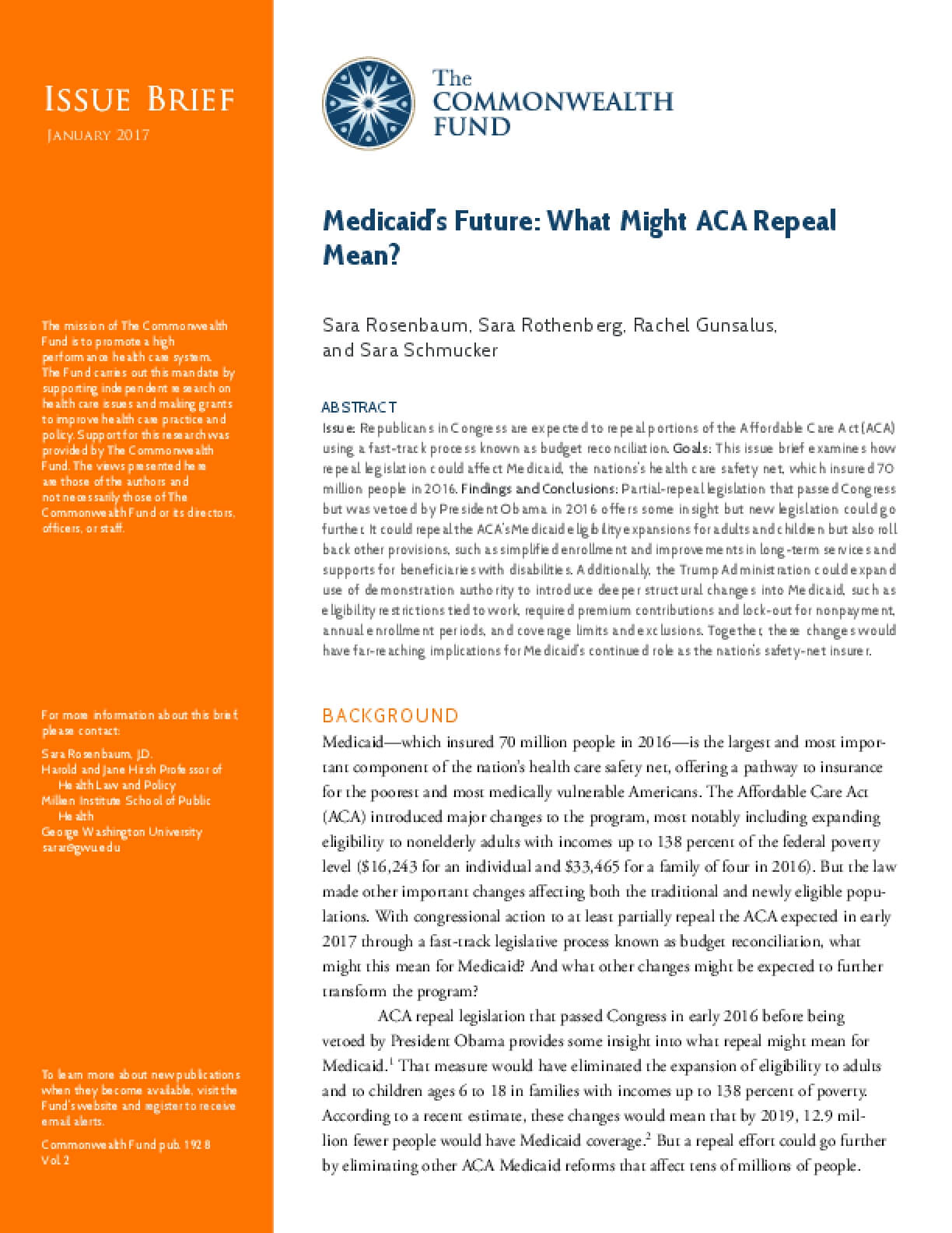 Medicaid's Future: What Might ACA Repeal Mean?