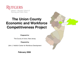The Union County Economic and Workforce Competitiveness Project