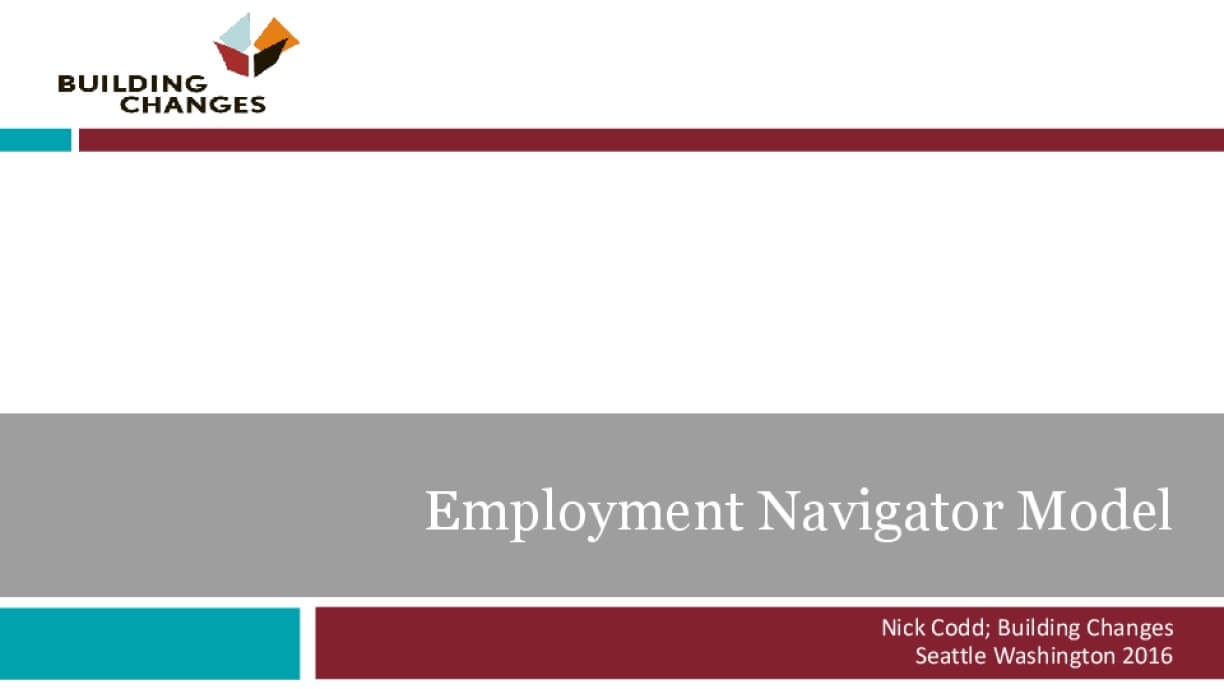 The Employment Navigator Model: An Innovation Boosting Access to Employment Services
