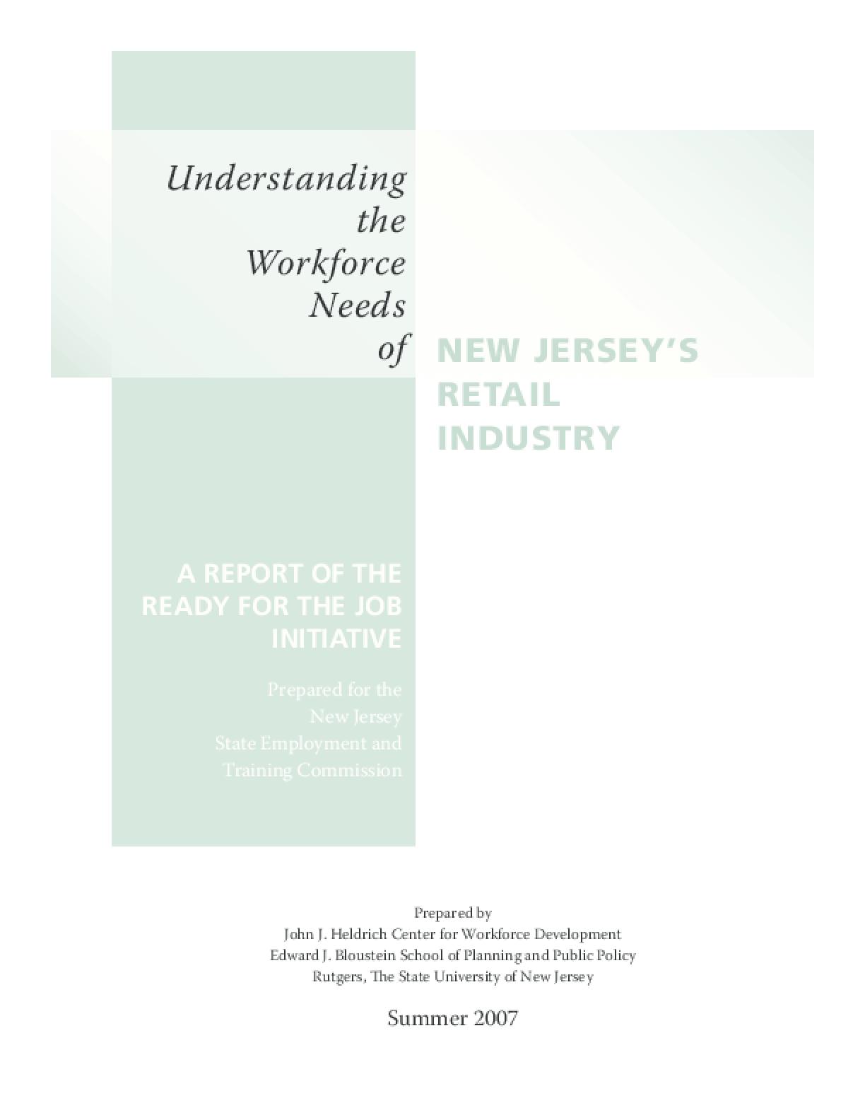 Understanding the Workforce Needs of New Jersey's Retail Industry