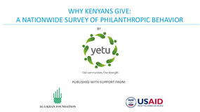 Why Kenyans Give: A Nationwide Survey of Philanthropic Behavior