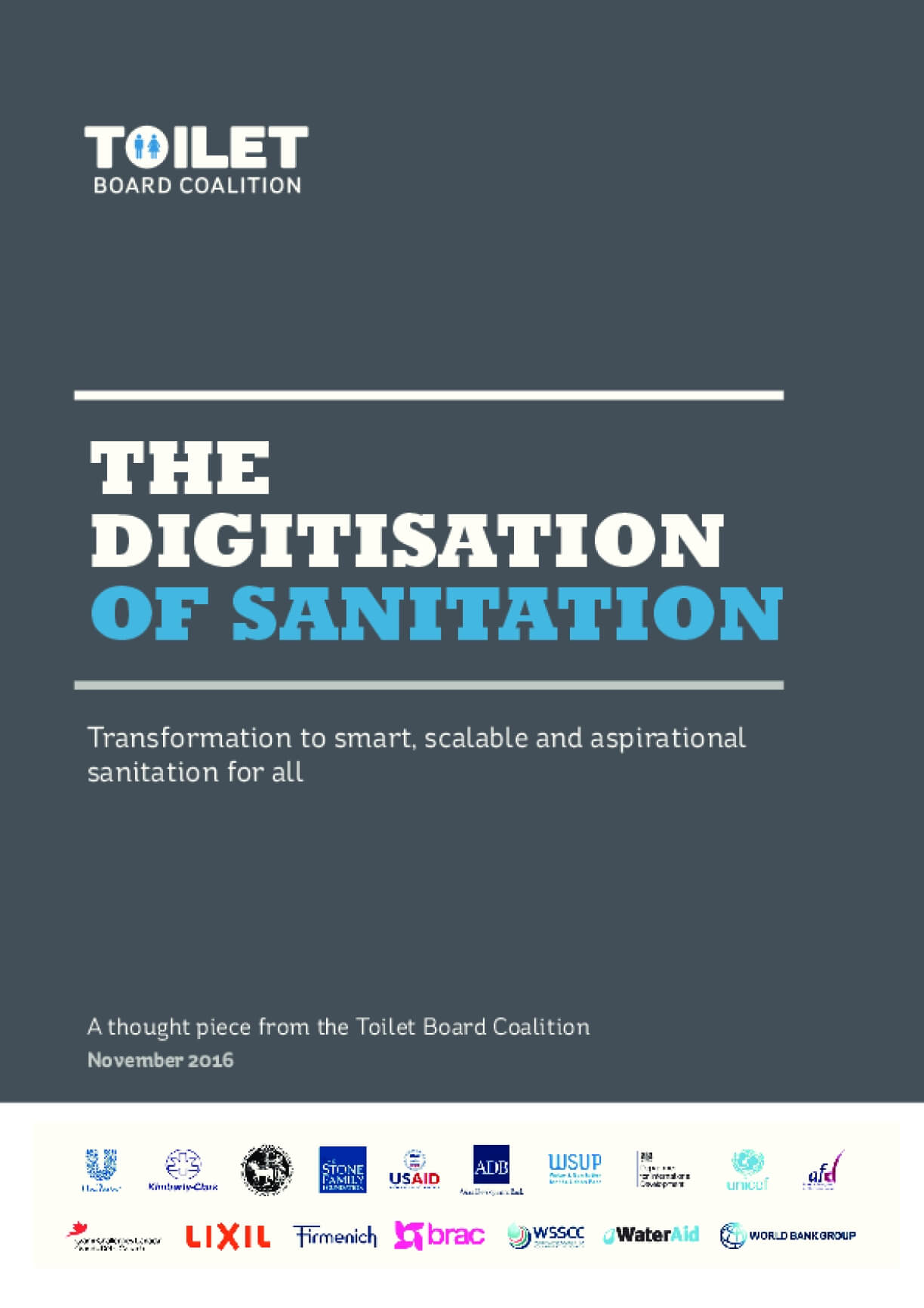 The Digitisation of Sanitation: Transformation to Smart, Scalable and Aspirational Sanitation for All