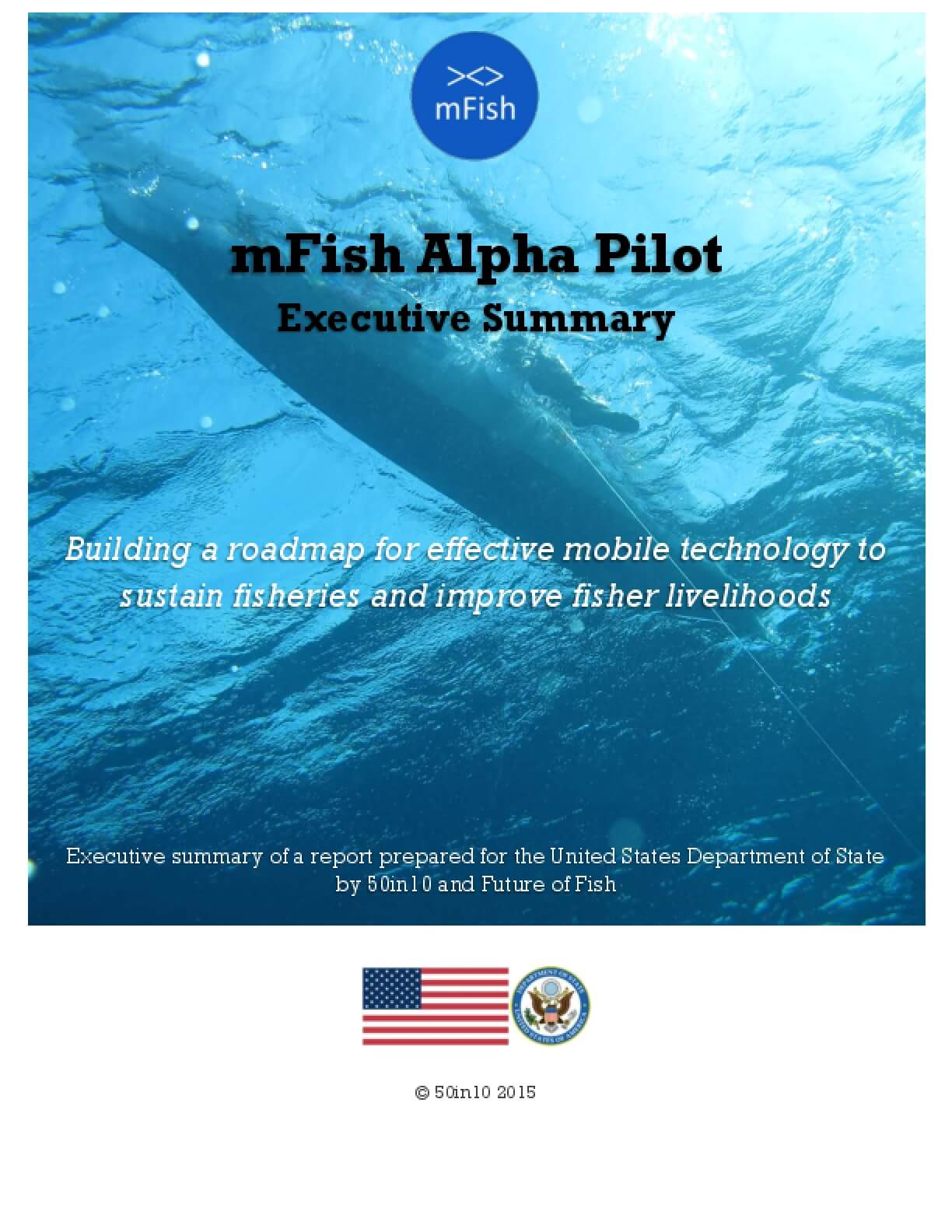 mFish Alpha Pilot: Building a Roadmap for Effective Mobile Technology to Sustain Fisheries and Improve Fisher Livelihoods. Executive Summary.