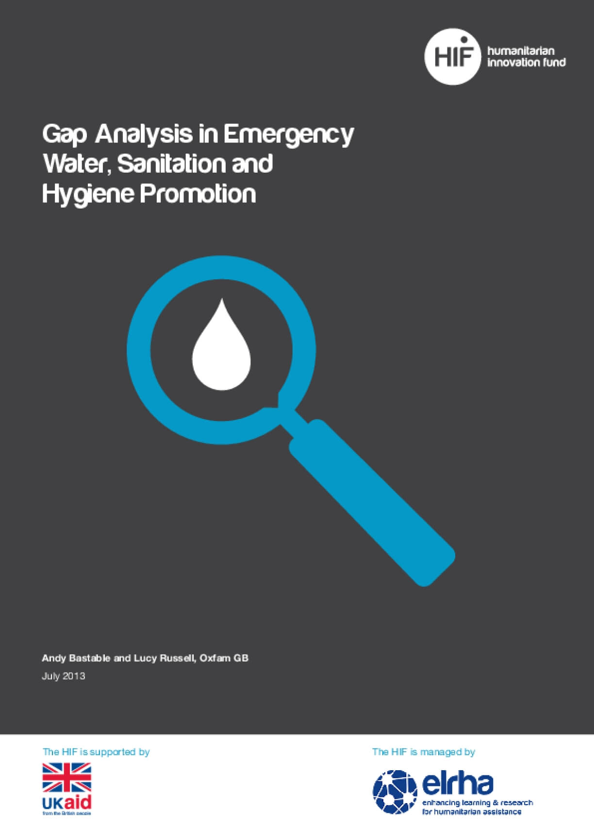 Gap Analysis in Emergency Water, Sanitation and Hygiene Promotion