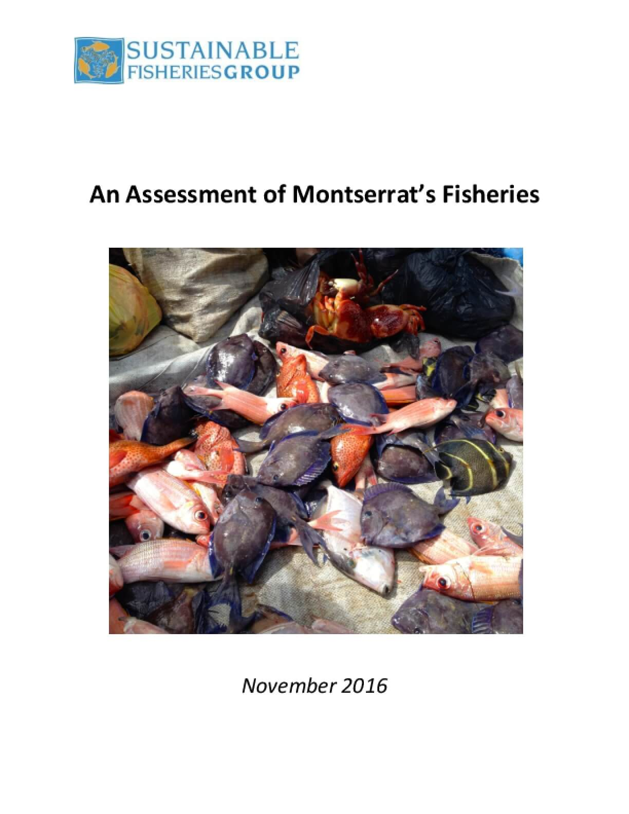 An Assessment of Montserrat's Fisheries