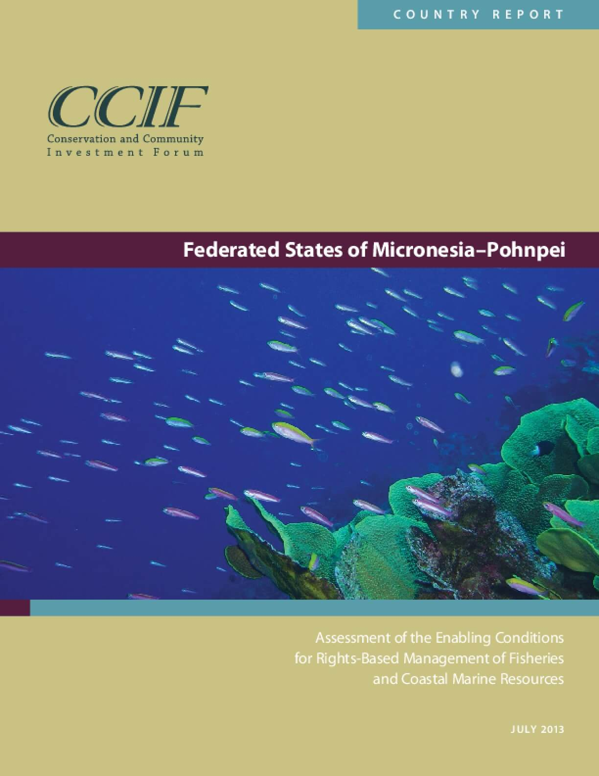 Federated States of Micronesia–Pohnpei Country Report